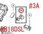 日立 ブロワRB18DSL用 DCトリツガスイッチ(フェルト付) #N10001以降