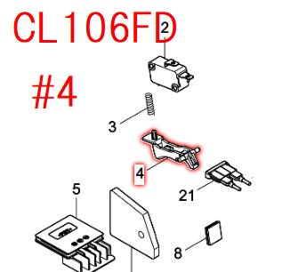スイッチレバー CL106FD,MCL143D用