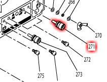 ターミナルボルト(赤) G280ISE等対応