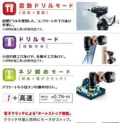 18V充電式4モードインパクトドライバTP141DRGX (6.0Ah)