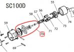 切替板アッセンブリ SC100D,SC101D用