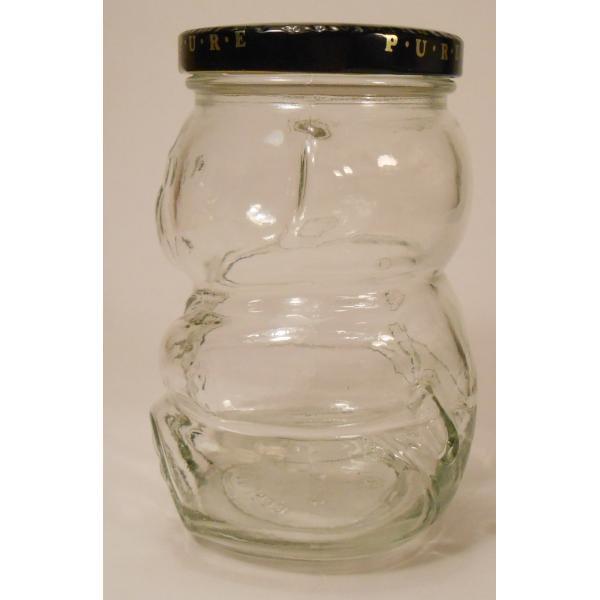 クラフト・赤ちゃんベア型ガラスジャー・容量500ミリリットル【画像3】