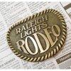 ベルトバックル ヴィンテージ・真鍮製・アメリカ・ベルトバックル・Raleigh Lights Rodeo