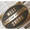 ベルトバックル ヴィンテージ・真鍮製・アメリカ・ベルトバックル・West Shore Pipe Line Company