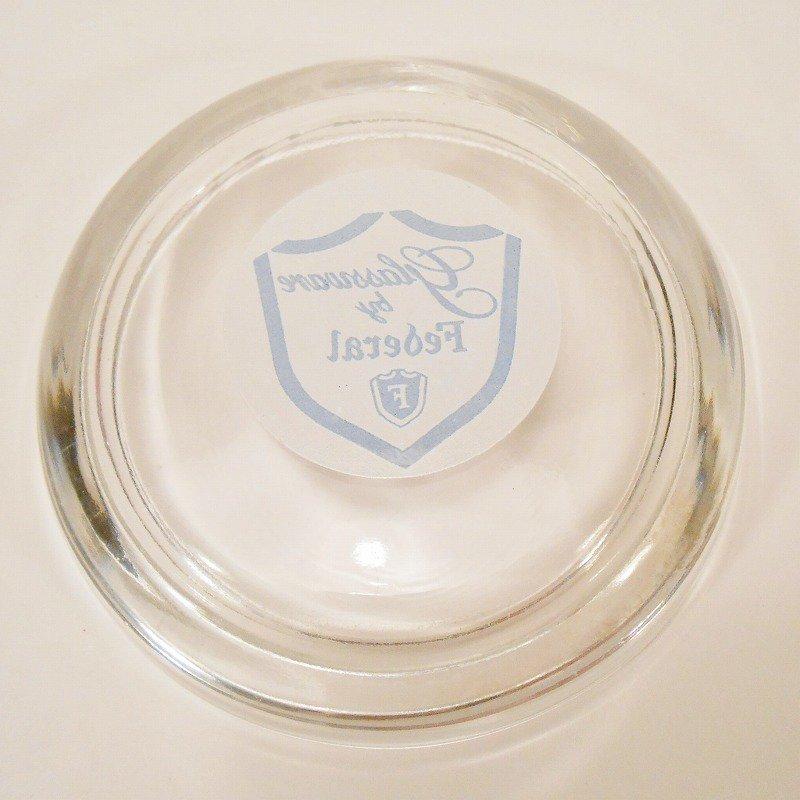 ヴィンテージ灰皿・フェデラルグラスロゴ`・アッシュトレイ【画像7】