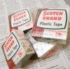 パッケージ&パッケージに味のある雑貨&チーズボックスなど ヴィンテージ・紙モノ・パッケージ・未使用未開封・デッドストック・緑スコッチテープ