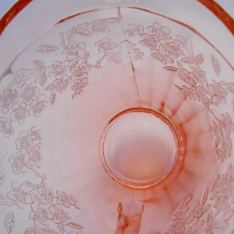 ジャネット・ディプレッショングラス・チェリーブロッサム・7インチ・ピッチャー・1930年〜1939年【画像12】