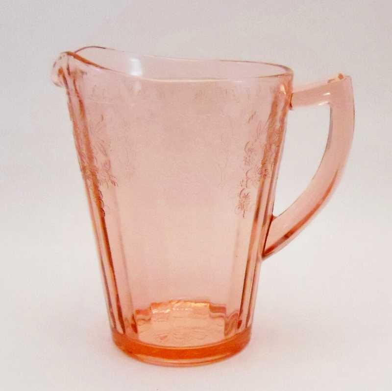 ジャネット・ディプレッショングラス・チェリーブロッサム・7インチ・ピッチャー・1930年〜1939年【画像3】