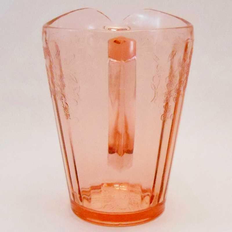 ジャネット・ディプレッショングラス・チェリーブロッサム・7インチ・ピッチャー・1930年〜1939年【画像4】
