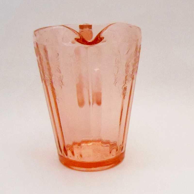 ジャネット・ディプレッショングラス・チェリーブロッサム・7インチ・ピッチャー・1930年〜1939年【画像6】
