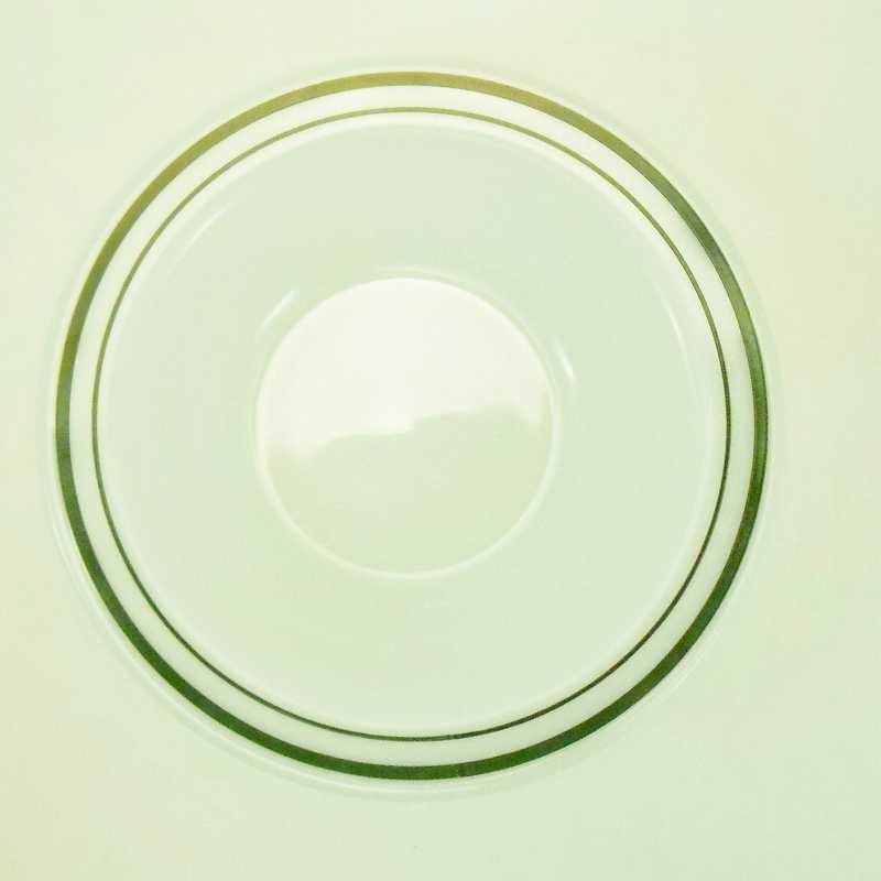 パイレックス・レストランウェア・グリーンダブルライン・フラットリムスープボウル・2個セット【C】【画像8】