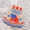 オリンピック ヴィンテージピンズ・アメリカ・USAオリンピック・GO FOR THE GOLD
