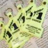 キーホルダー ヴィンテージ・Joe Lanphier Inc.・ナンバー1・プラスチック製キーホルダー・ネオンイエロー