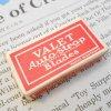 パッケージ&パッケージに味のある雑貨&チーズボックスなど ジャンク雑貨・ヴィンテージパッケージ入り・カミソリの刃5枚入・Valet