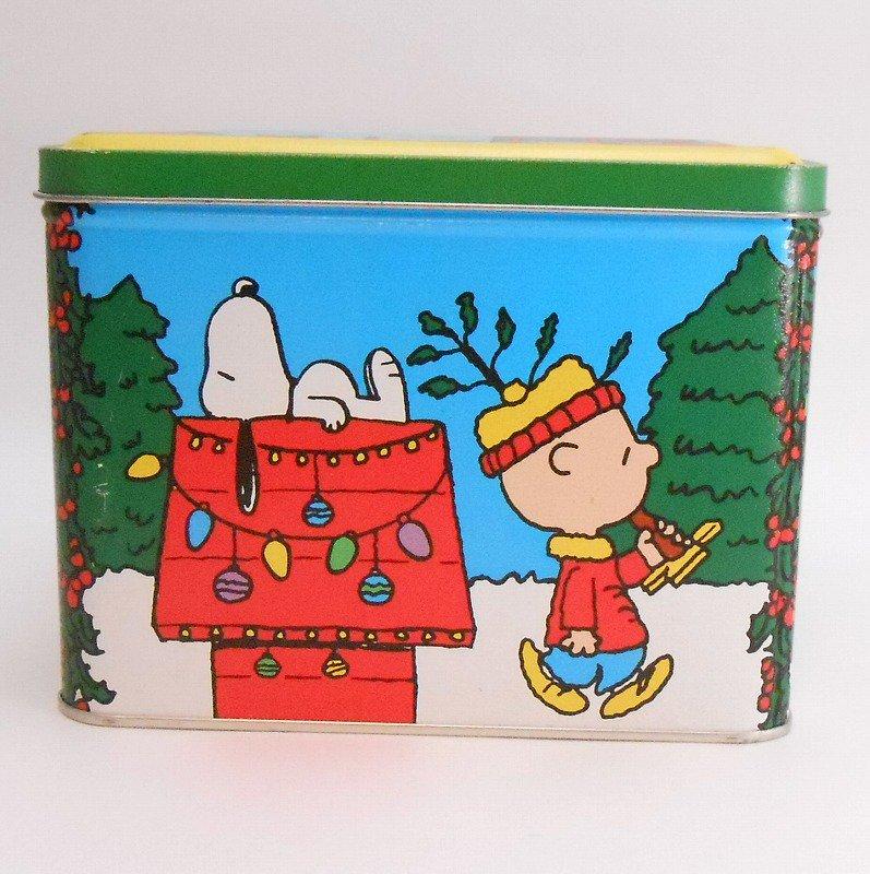 ヴィンテージ・スヌーピーとお友達・コレクターズエディッション・クリスマスティン缶【画像2】