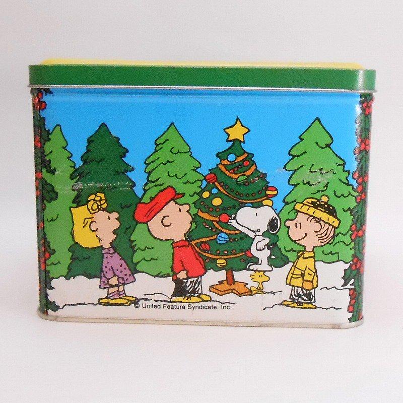 ヴィンテージ・スヌーピーとお友達・コレクターズエディッション・クリスマスティン缶【画像3】