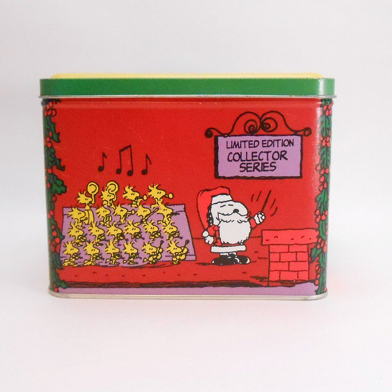 ヴィンテージ・スヌーピーとお友達・コレクターズエディッション・クリスマスティン缶【画像4】