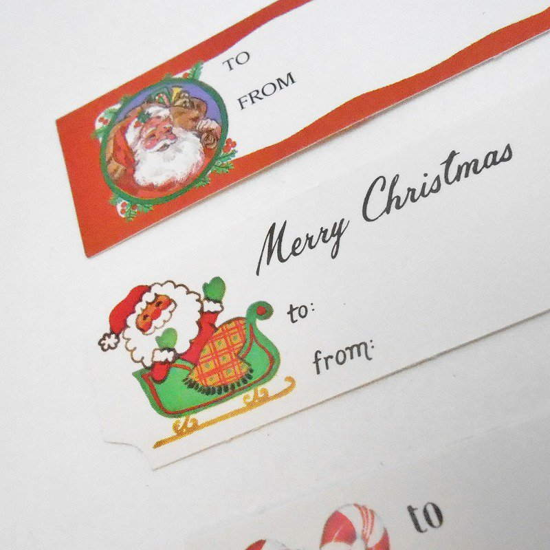 未使用・ヴィンテージ・クリスマスプレゼント用タグシール・6枚セット【画像4】
