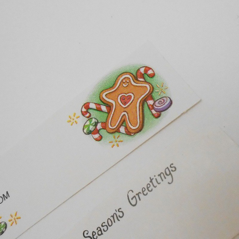 未使用・ヴィンテージ・クリスマスプレゼント用タグシール・6枚セット【画像6】