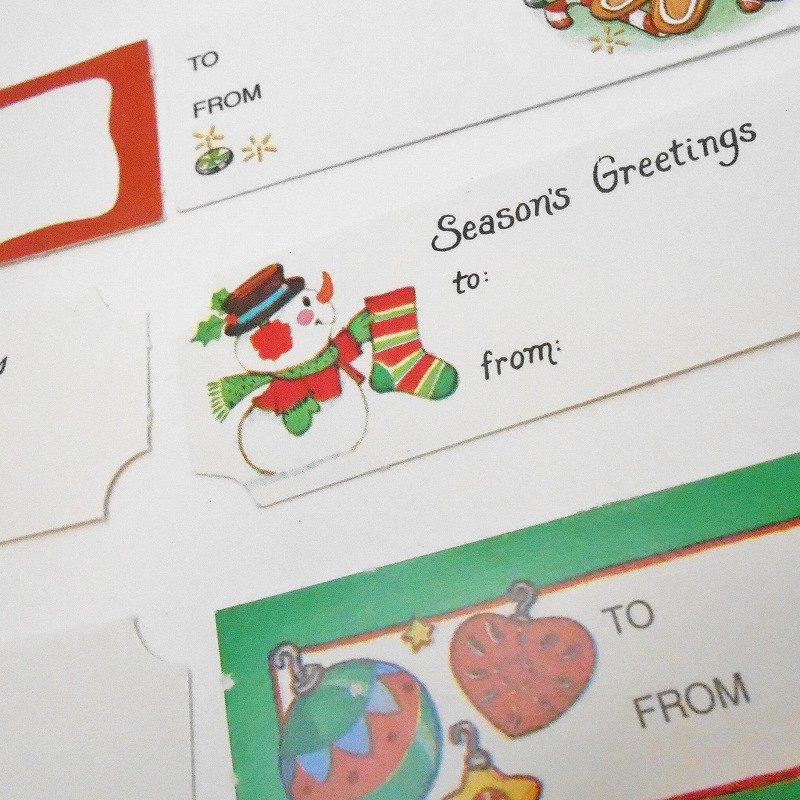 未使用・ヴィンテージ・クリスマスプレゼント用タグシール・6枚セット【画像7】