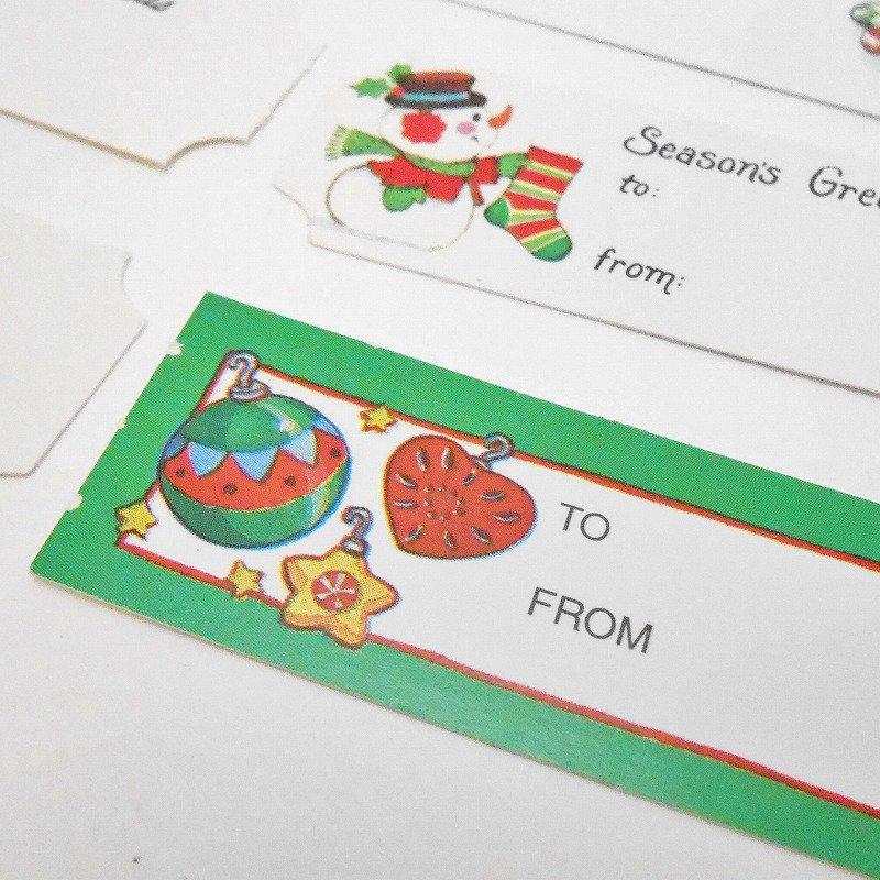 未使用・ヴィンテージ・クリスマスプレゼント用タグシール・6枚セット【画像8】