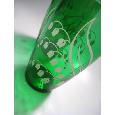 直近のソールドアウト アンカーホッキング・フォーレストグリーン・すずらん柄グラス