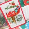 グリーティングカード ヴィンテージ・クリスマスカード・未使用・ポストカード・カーディナル