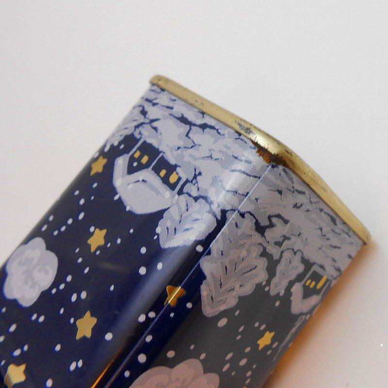 ヴィンテージティン缶・クリスマス・サンタと夜・ミニ缶【画像11】