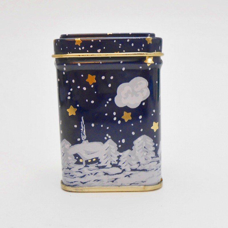 ヴィンテージティン缶・クリスマス・サンタと夜・ミニ缶【画像5】