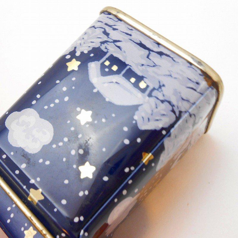 ヴィンテージティン缶・クリスマス・サンタと夜・ミニ缶【画像10】