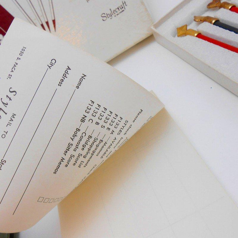 ヴィンテージ文房具・鉛筆4本・ブリッジメモ・メモケース・ボックス入りセット【画像11】