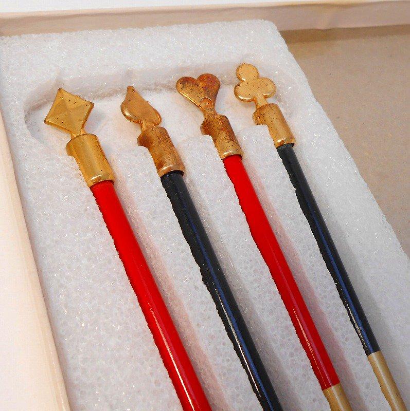 ヴィンテージ文房具・鉛筆4本・ブリッジメモ・メモケース・ボックス入りセット【画像17】