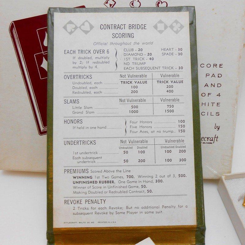 ヴィンテージ文房具・鉛筆4本・ブリッジメモ・メモケース・ボックス入りセット【画像5】