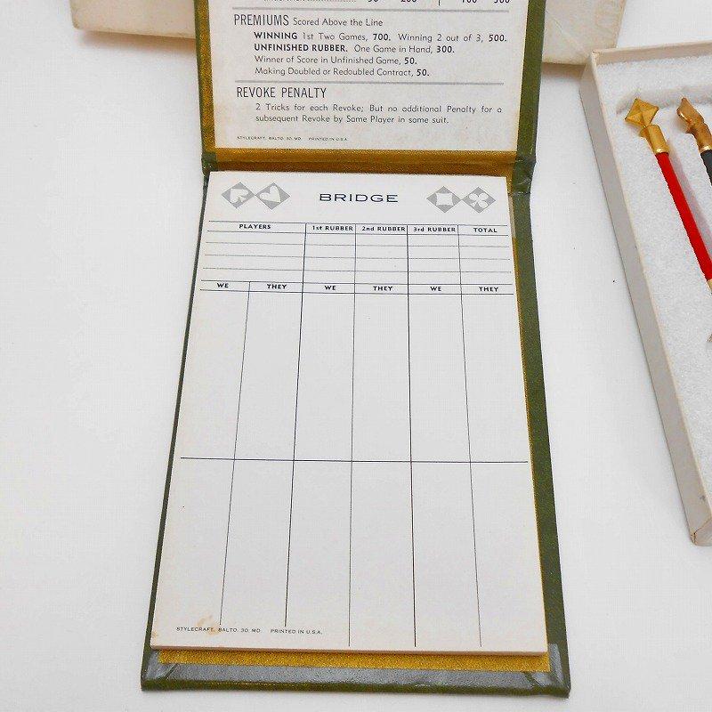ヴィンテージ文房具・鉛筆4本・ブリッジメモ・メモケース・ボックス入りセット【画像6】