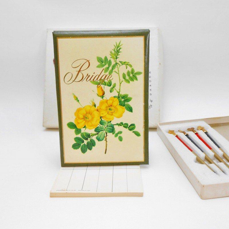 ヴィンテージ文房具・鉛筆4本・ブリッジメモ・メモケース・ボックス入りセット【画像9】