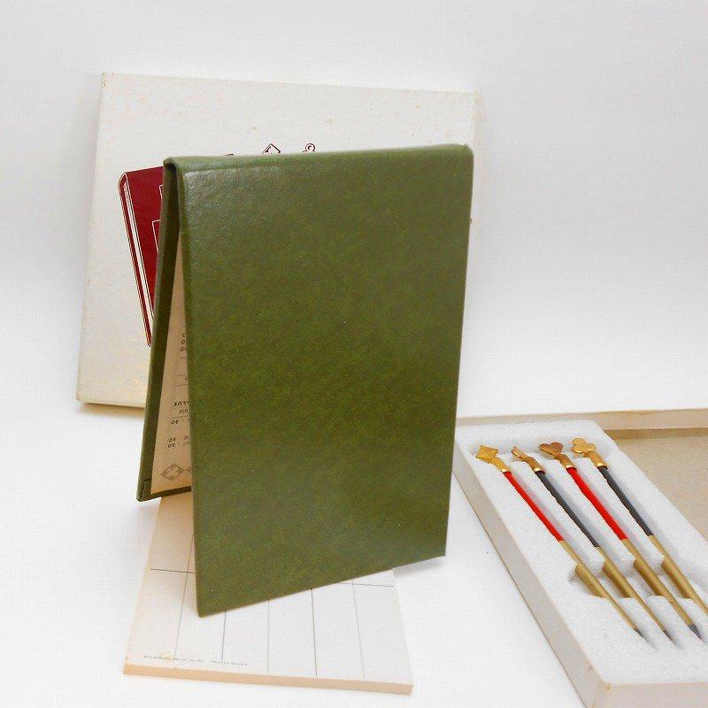 ヴィンテージ文房具・鉛筆4本・ブリッジメモ・メモケース・ボックス入りセット【画像10】