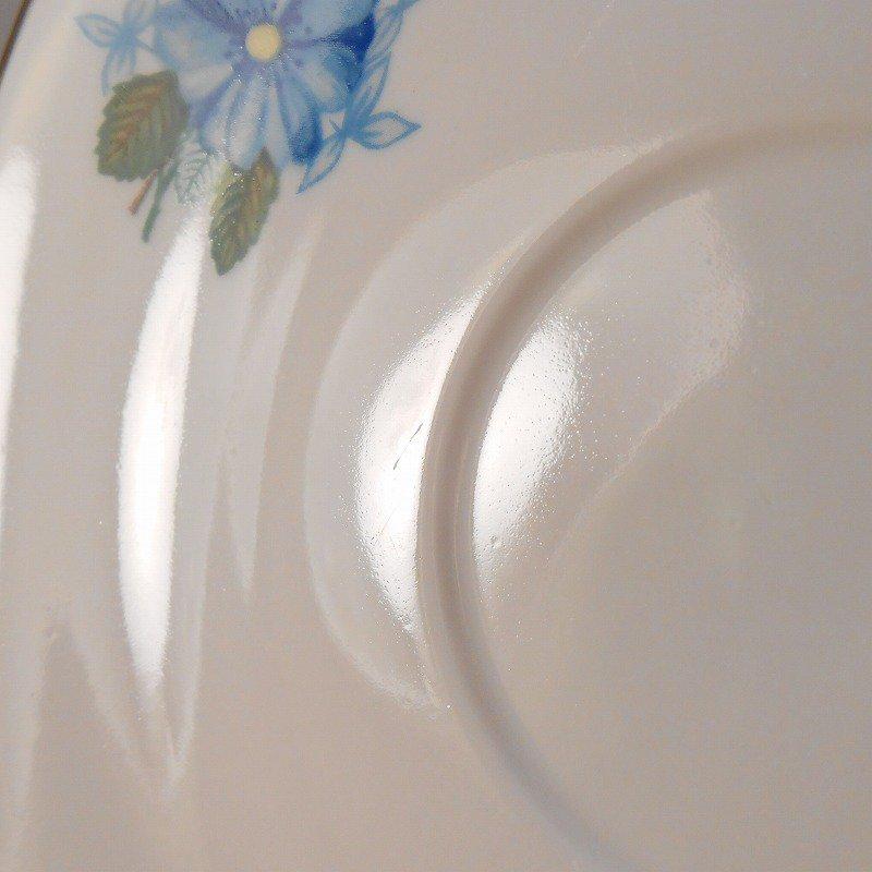 ポーランド製・青と紫のお花・カップ&ソーサー【A】【画像14】