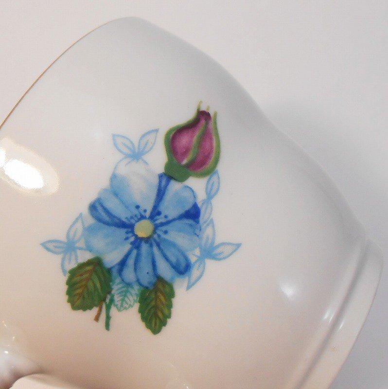 ポーランド製・青と紫のお花・カップ&ソーサー【A】【画像22】