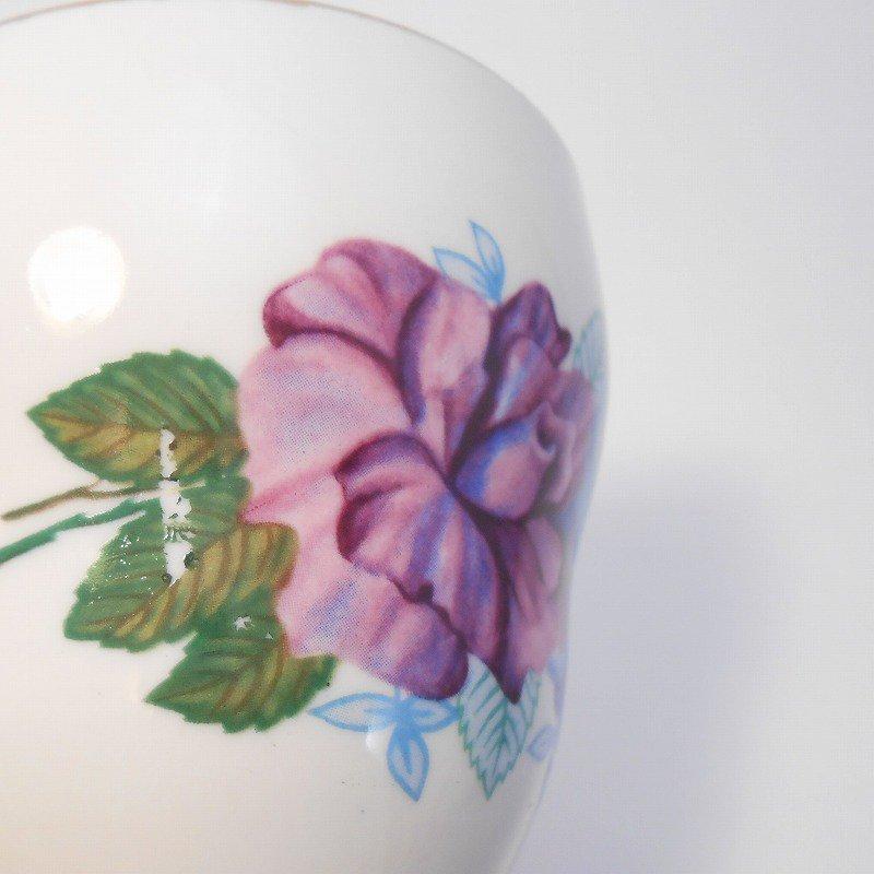 ポーランド製・青と紫のお花・カップ&ソーサー【A】【画像25】