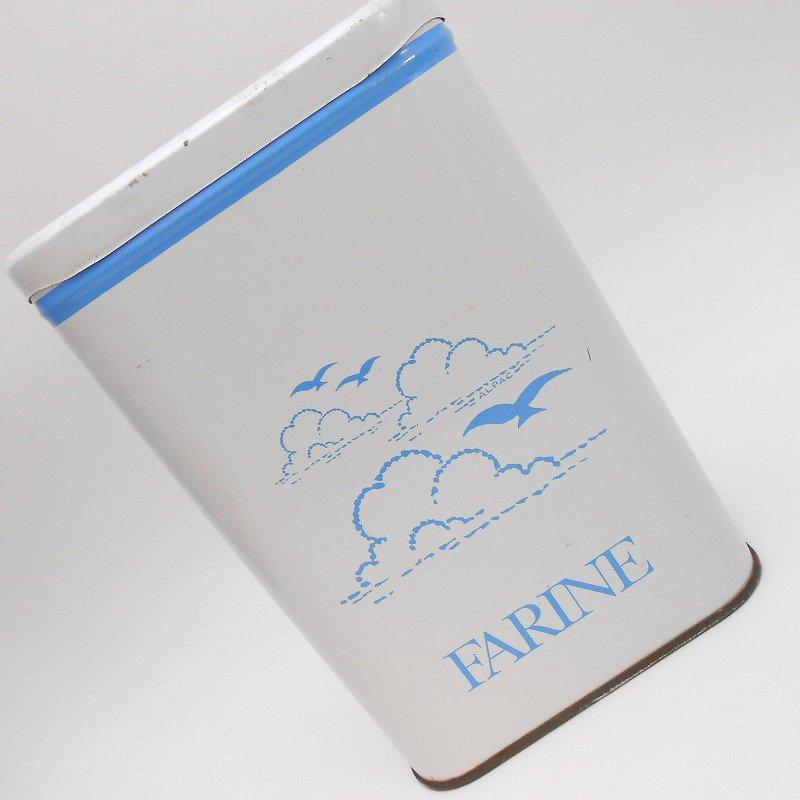 ビンテージ・フランス製・ビーチ&Farine・TIN缶キャニスター