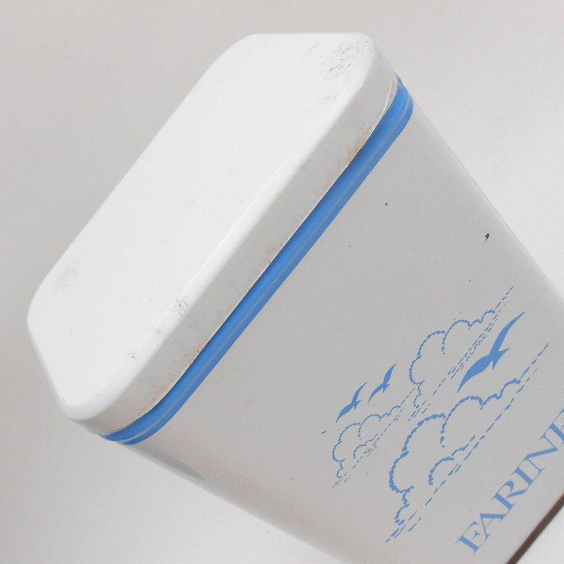ビンテージ・フランス製・ビーチ&Farine・TIN缶キャニスター【画像7】