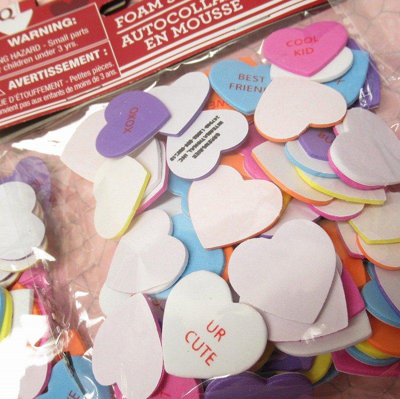 キャンディハーツ ウレタン立体シール バレンタイン 90個のハート入り 並行輸入品
