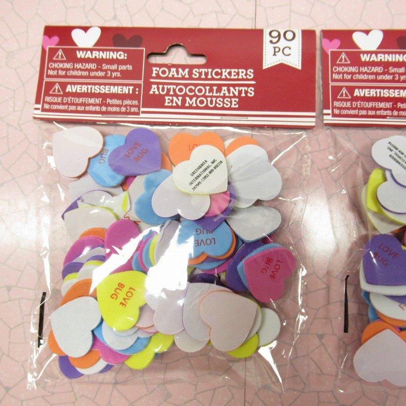 キャンディハーツ ウレタン立体シール バレンタイン 90個のハート入り 並行輸入品【画像2】