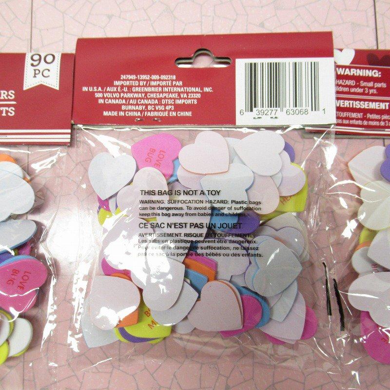 キャンディハーツ ウレタン立体シール バレンタイン 90個のハート入り 並行輸入品【画像3】