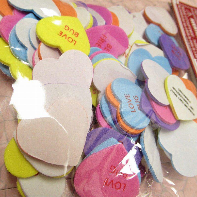 キャンディハーツ ウレタン立体シール バレンタイン 90個のハート入り 並行輸入品【画像4】