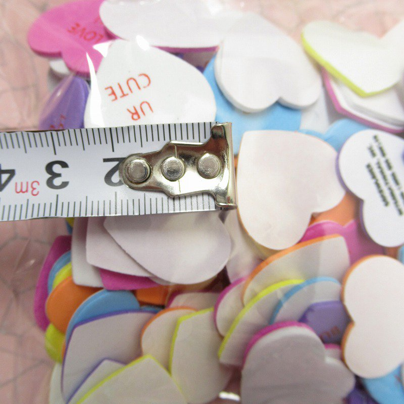 キャンディハーツ ウレタン立体シール バレンタイン 90個のハート入り 並行輸入品【画像5】