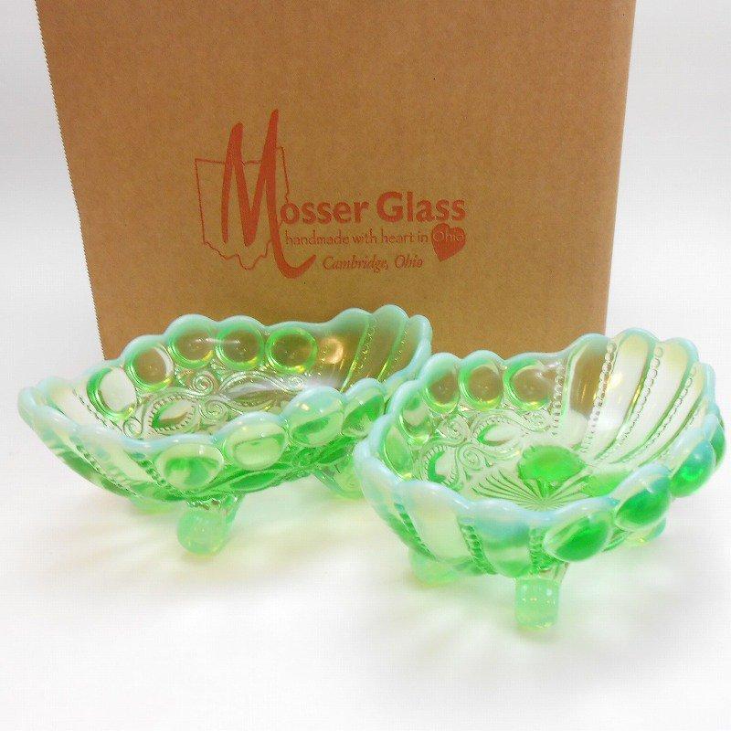 モッサーグラス・Mosser Glass・アイウインカー・グリーンオパール・ジャムディッシュ【画像2】