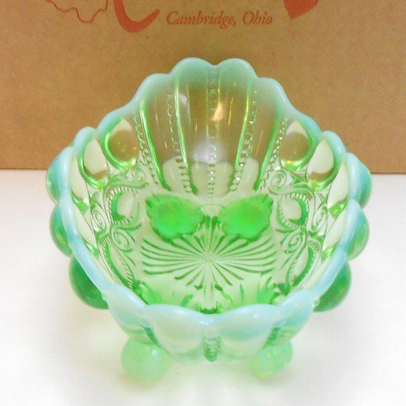 モッサーグラス・Mosser Glass・アイウインカー・グリーンオパール・ジャムディッシュ【画像5】