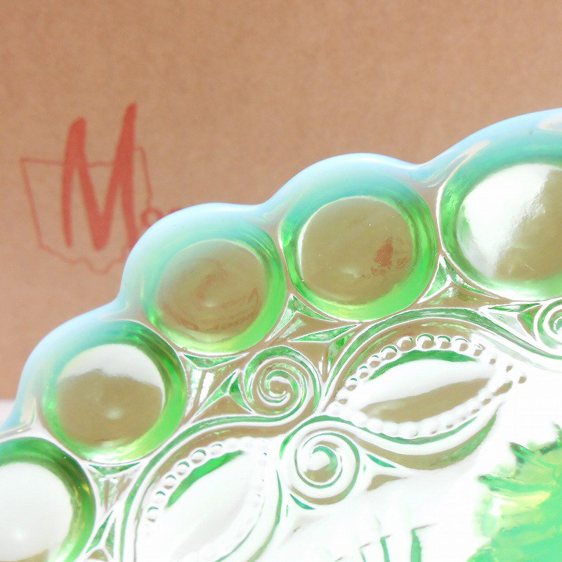 モッサーグラス・Mosser Glass・アイウインカー・グリーンオパール・ジャムディッシュ【画像7】
