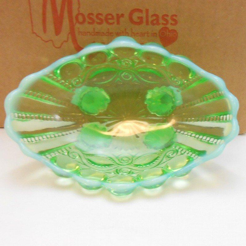 モッサーグラス・Mosser Glass・アイウインカー・グリーンオパール・ジャムディッシュ【画像10】